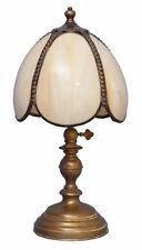 Tolle Jugendstil Tischleuchte Berliner Messinglampe Lampe Tiffany-Style