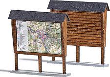 Busch HO Scale Information Board Model Train Scenery Detail Kit 1495
