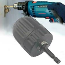 Keyless Drill Chuck Screwdriver Impact Driver Adaptor 0.8-10mm Hex Shank Ki O0B3