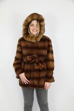 Giacca Visone Zibellino Sable Hood Mink Fur Jacket Pelliccia Coat Mantel Nerz