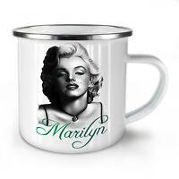 Marilyn Black Celebrity NEW Enamel Tea Mug 10 oz   Wellcoda