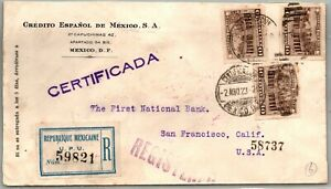 GP GOLDPATH: MEXICO COVER 1923 REGISTERED LETTER _CV747_P04