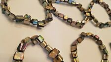 """Lot of 6 8"""" Strands of Abalone Nugget Shell Paua Beads or Use as Bracelets"""