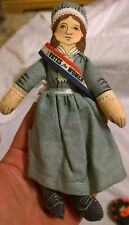 Susan B Anthony 1979 Famous Americans Hallmark Collectible Cloth Doll