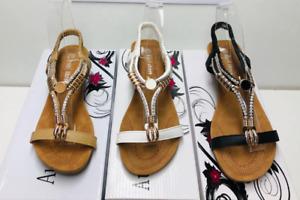 Sandal women's wedge ladies shoes bridesmaids designer auyi beige
