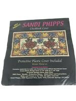 Sandi Phipps Counted Cross Stitch - Winter Floral Checkbook Cover-New in Package