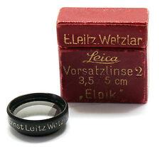 Leica ELPIK Close Up Lens Vorsatzlinse 2 type G 19mm Leitz boxed EXC+ #74254