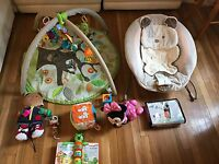 Skip Hop  Activity Gym Baby Playmat +fisher Price Bouncer And Toys