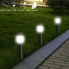Outdoor Solar LED Lawn Light Small Tube Light Pathway Landscape Garden Yard Lamp