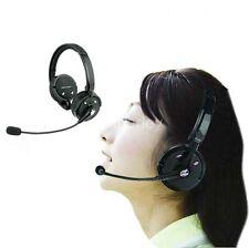 Bluetooth Wireless Headset headphone Dual Ear W Stereo Mic Fr music Trucker PS3
