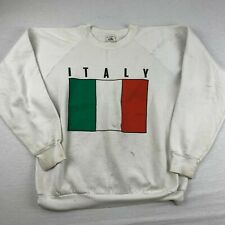 VINTAGE ITALY FLAG MENS SIZE XL GRAPHIC CREW NECK SWEATSHIRT MADE IN USA