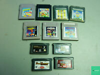 Lot of 11 Gameboy, Gameboy Color, and Gameboy Advanced Games