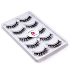Real Mink 3D False Eyelashes Long Messy Cross Reusable Fake Eyelashes Y7 LASGOOS