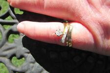 DIAMOND & YELLOW GOLD ENGAGEMENT & WEDDING RING SET