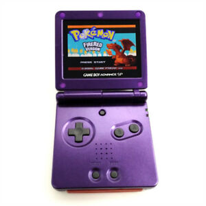 Purple Game Boy Advance GBA SP Console AGS 101 Brighter Backlit LCD Console