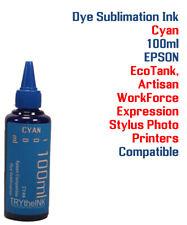 Dye Sublimation Ink - Cyan 100ml All Epson WorkForce  EcoTank Stylus Artisan