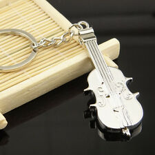 3D Schlüsselanhänger Geige Cello Metall Musikliebhaber Geschenk Musiker Silber