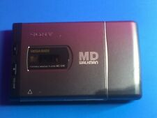 Sony Md Portable MiniDisc Player Mz-E40 Md Walkman, Mega Bass with 2 Cases