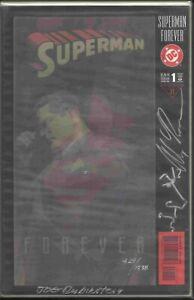 SUPERMAN FOREVER #1 LENTICULAR COVER RE-MARKED EDITION ROSS & RUBINSTEIN DF COA