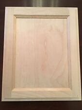 "Natural Birch Flat Panel 13"" X 14.5"" Unfinished Stain Grade Cabinet Door"