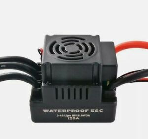 120A Brushless ESC Electric Speed Controller T-plug for 1/8 RC Car Spare