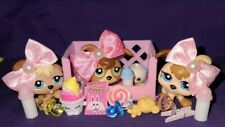 Rare Littlest Pet Shop - Petriplets Triplets Baby Dog Puppy #1338 #1339 #1340