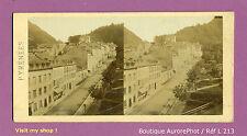 PHOTO VUE STÉRÉO VIEW : PYRÉNÉES, ENTRÉE DE LA COMMUNE DE EAUX-BONNES,1870-L213