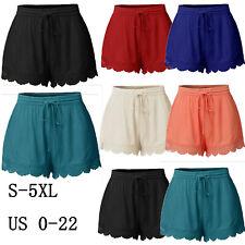 Summer Women Cotton Running Beach Hot Shorts Casual Sports Short Pants Plus size