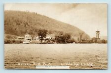Cortland, NY - LITTLE YORK LAKE UNEEDA REST RESORT & LIGHTHOUSE - ROADSIDE RPPC