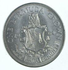 BU - Unc SILVER - WORLD COIN - 1964 Bermuda 1 Crown - World Silver Coin
