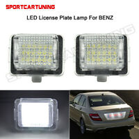 LED License Plate Light Lamp Error Free For Mercedes Benz W204 2D W205 W216 W218