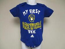"New ""My First"" Milwaukee Brewers Adidas Infant 12m Blue Creeper"