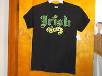 "BRAND NEW MEN'S ""GILDAN HEAVY COTTON BLACK  PRINT DESIGN IRISH S/S T' SHIRT"