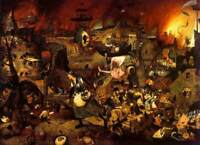 "Hieronymus Bosch Hell Canvas 20""x30"" INCHES"