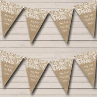 Burlap And Lace Personalised Engagement Party Bunting Banner Garland