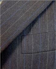 $1595 Hickey Freeman Suit Dark Gray pinstripe wool Suit 40 40R Boardroom 03003