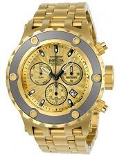 Invicta 23922 Men's Subaqua Chronograph Gold Dial Yellow Gold Steel Bracelet
