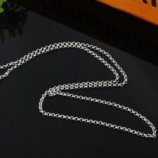 1PC Fashion Stainless Steel Pearl Link Chain Polishing Necklace 50.5cm