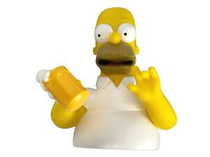 The Simpsons Family Homer Bust Bank Figure Coin Piggy Bank with Beer