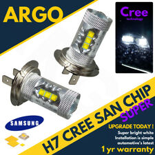H7 Cob Cree Led Smd Super Bright White Headlight Headlamp Main Dipped Beam Bulbs