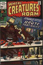 WHERE CREATURES ROAM #1  NM 9.4 BEAUTY! FROM 1970 JACK KIRBY/STEVE DITKO ART