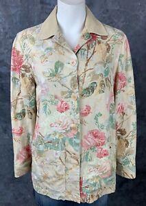 Ralph Lauren Linen & Cotton Floral Print Jacket sz M (9094)