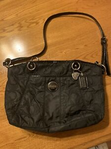 COACH Quilted Nylon Cross Body Or Shoulder Large