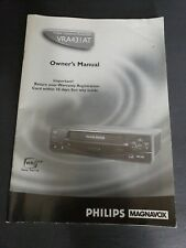 Phillips Magnavox 4Head Vhs Player Vcr Vra431At23 Manual / Operating Insructions