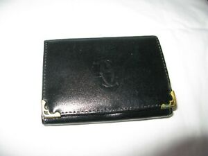 """Vintage Cartier Paris Wallet,Billfold,Trifold,Black,4 1/2"""" by 3 1/4"""" Closed"""