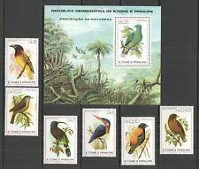 NW0067 1979 SAO TOME & PRINCIPE FAUNA BIRDS #604-9+BL39 MICHEL 42 EURO MNH