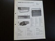 Original Service Manual SABA  Transcontinent Automatic