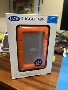 LaCie - Rugged Mini 4 to - Disque Dur Externe Mobile USB-C - STFR4000800 NEUF