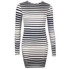 Viscose Stretch, Bodycon Casual Striped Dresses for Women