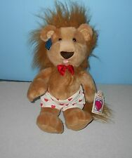"""Applause Wild At Heart 14"""" Stuffed Plush Love Male Lion in Heart Boxer Shorts"""